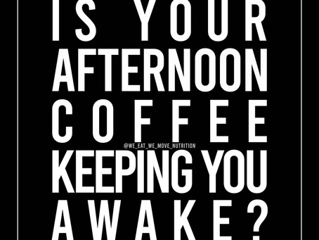 Is Your Afternoon Coffee Keeping You Awake? ☕️