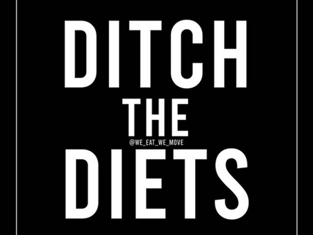 It's Time To Ditch The Diets