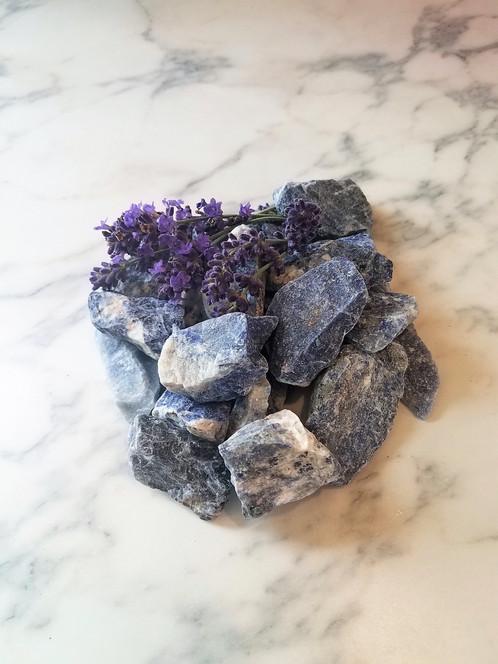 1 Lb Raw Blue Sodalite Stones From Brazil