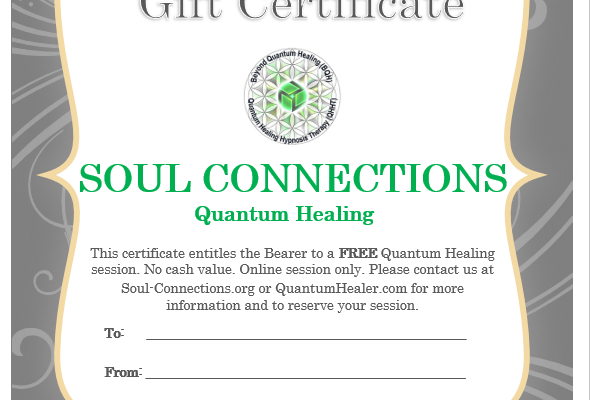 Quantum Healing Gift Certificate