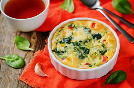 This easy breakfast recipe of a spinach fritatta is simple to make and is a favourite of many!