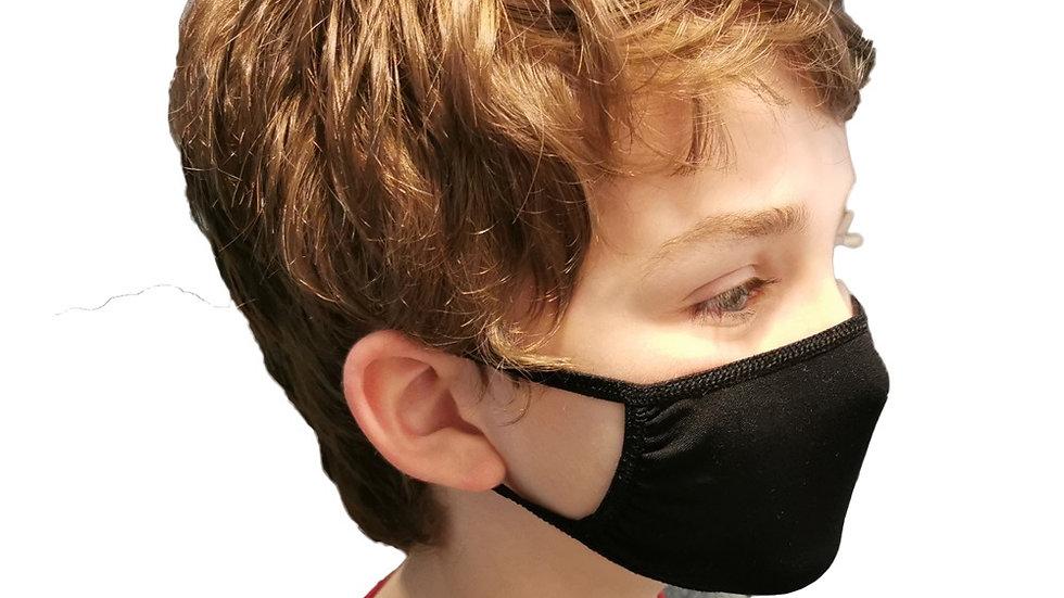 Unisex Black Face Mask - Petite