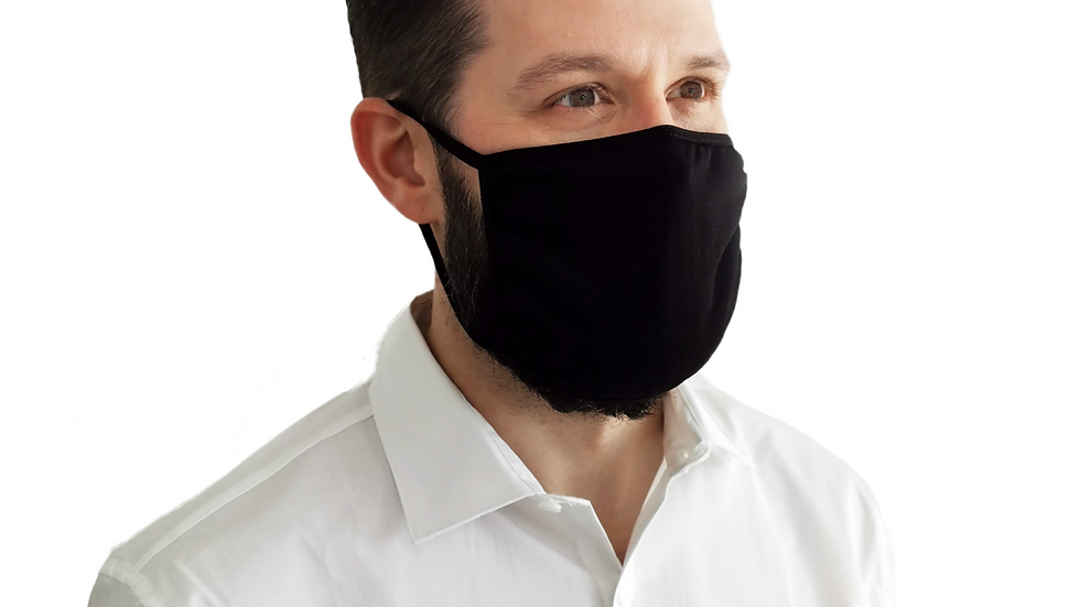 Unisex Black Face Mask - Large