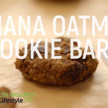 Banana Oatmeal Cookie Bars