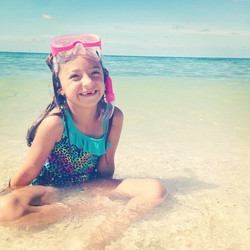 Toothless snorkeling in the Keys.jpg  I wish she never had to loose this toothless smile