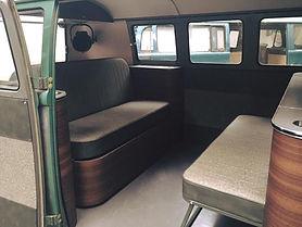 Full width split screen bed and custom buddy bench seat