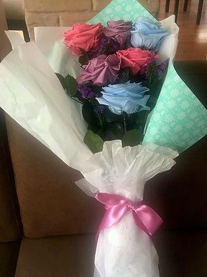 Ramo 6 rosas premium 4 colores $160.000
