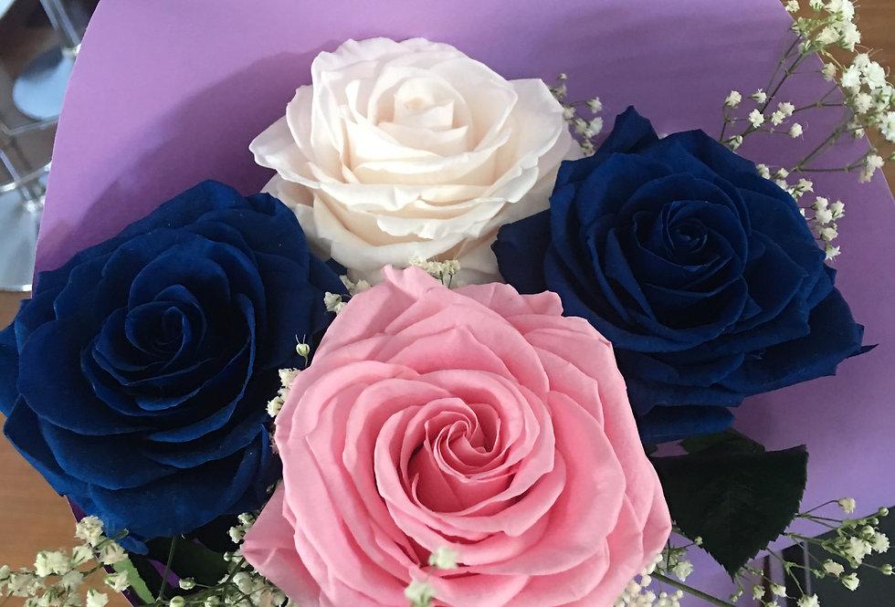 4 Rosas Premium, 4 Colores 2