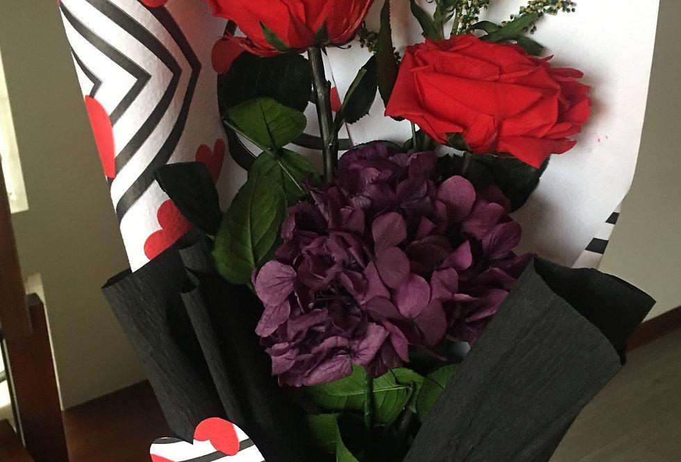 2 Rosas y Hortensias