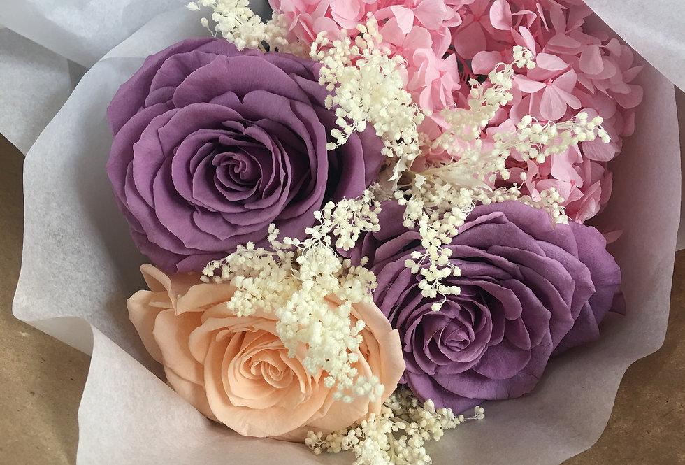 3 Rosas y Hortensias
