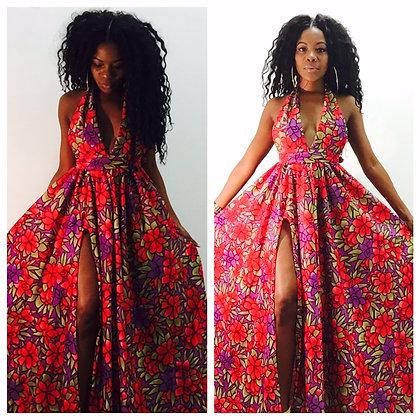 FLOWER BOMB MAXI DRESS