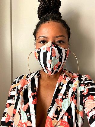 ZL Floral Print Mask