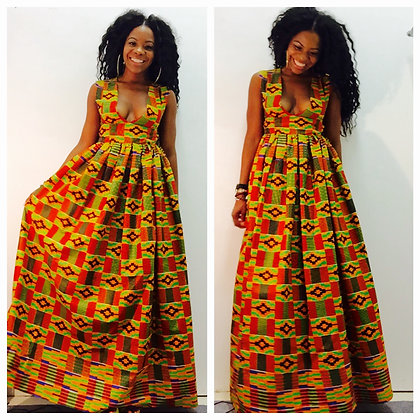 AFRI-GLAM MAXI DRESS