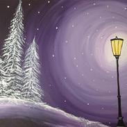Winter Lightpost