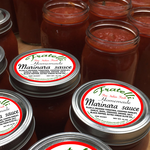 Try our homemade jarred sauces.