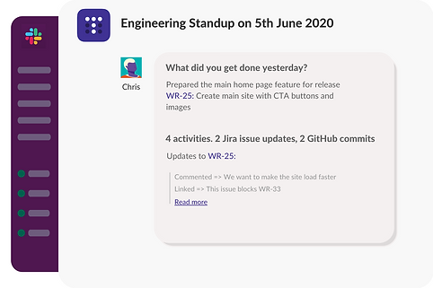 Jira integration in Slack standup bot