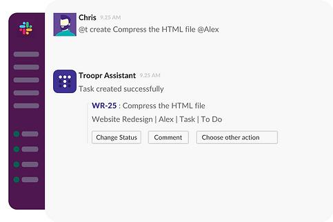 Create Jira tasks in Slack
