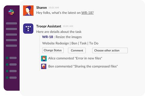 Expand Jira tasks context in Slack