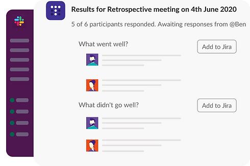 Online retrospective in Slack