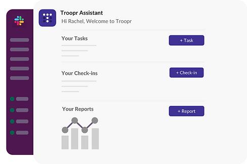 Personalized Troopr dashboard in Slack