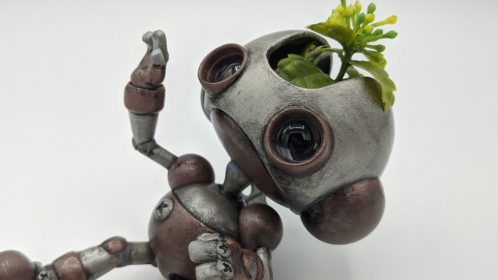 Bucket, the articulated planter