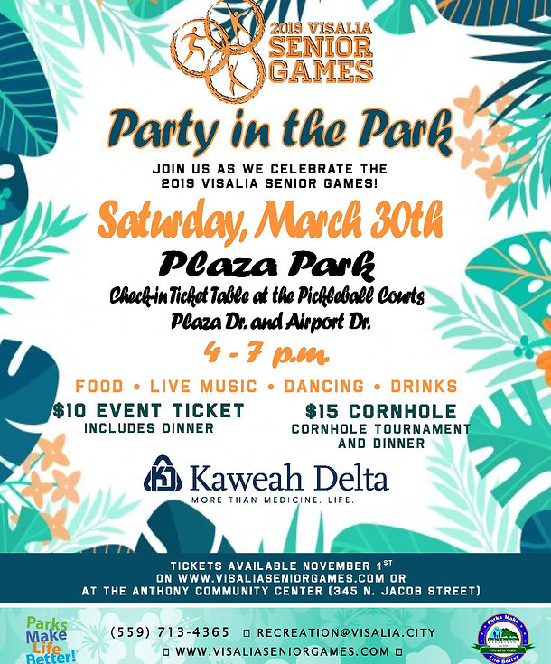 FINAL 2019 Visalia Senior Games Party in
