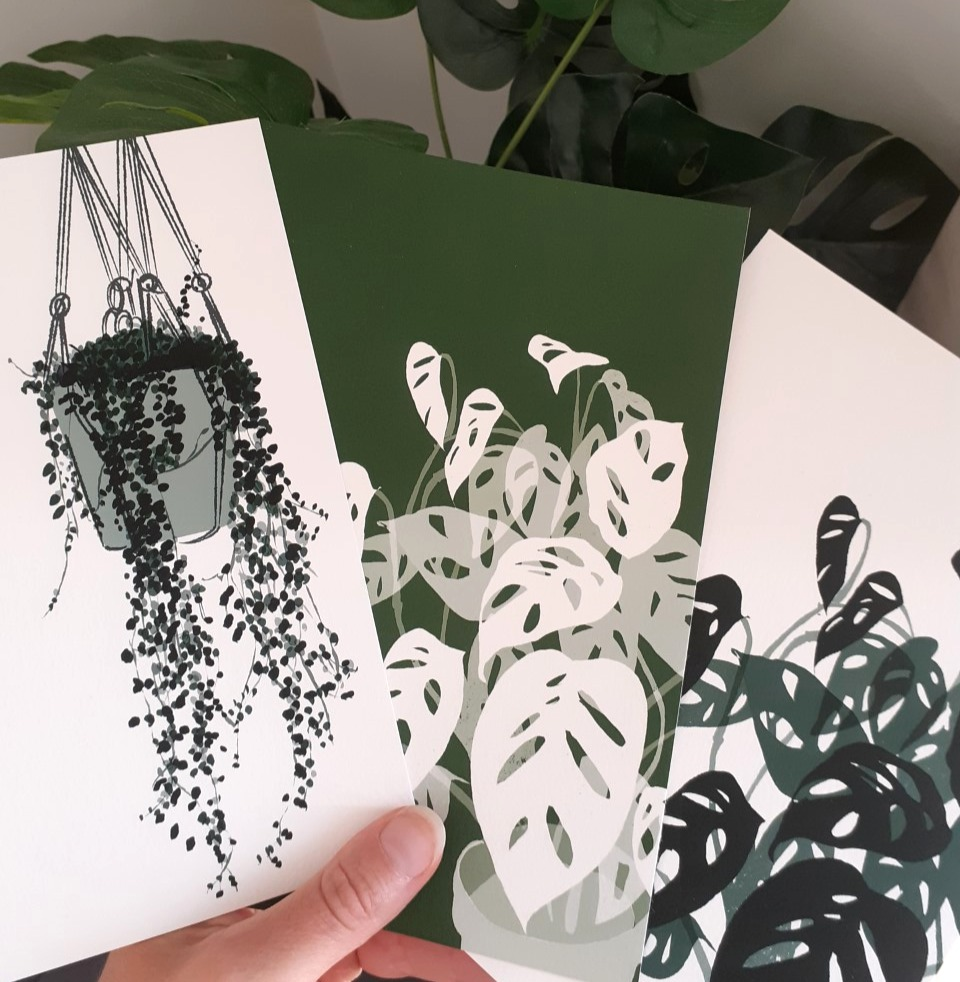 Set of 3 A5 plant prints