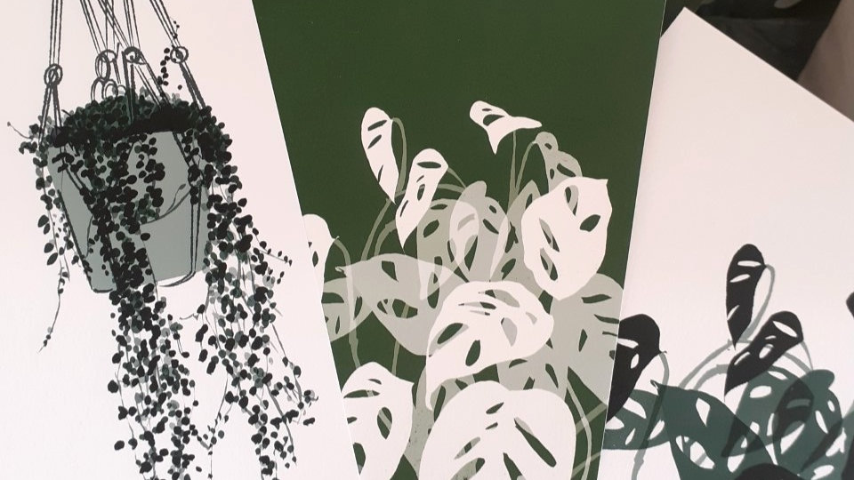 Set of 3 plant prints in A5