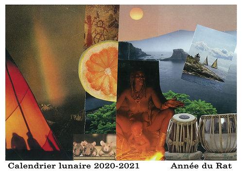 Calendrier lunaire -  2020-2021- Année du Rat