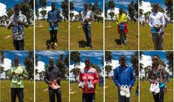 kenya collage used running shoes