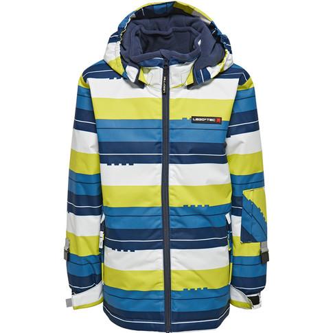lego ski wear giacca neve bambino kid yellow righe