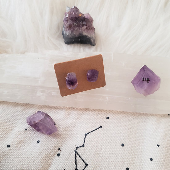 Amethyst Natural Earrings