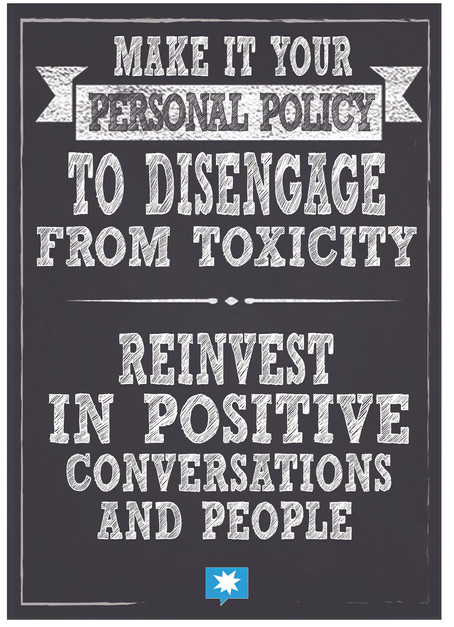 Make it a personal policy to disengage.j