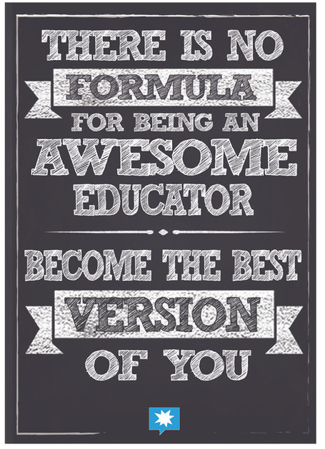 There is no formula for being an awesome