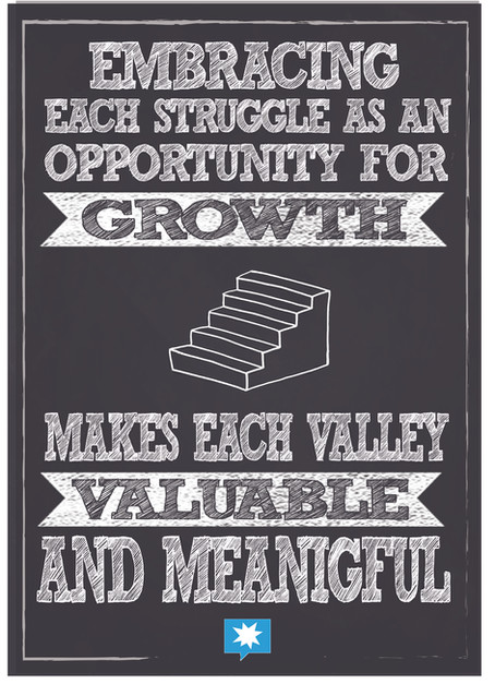 Embracing each struggle as an opportunit