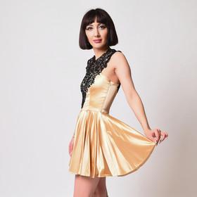 Золотое платье с кружевом