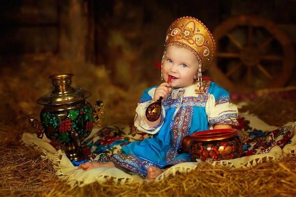 Фотосессия в русском стиле.