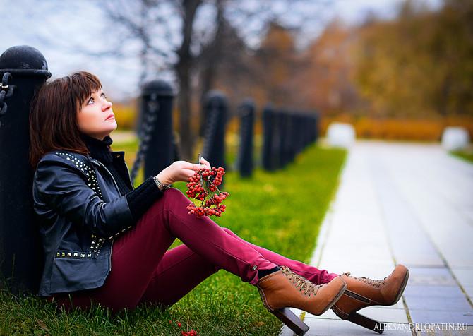 Осенняя фотосъемка в парке.