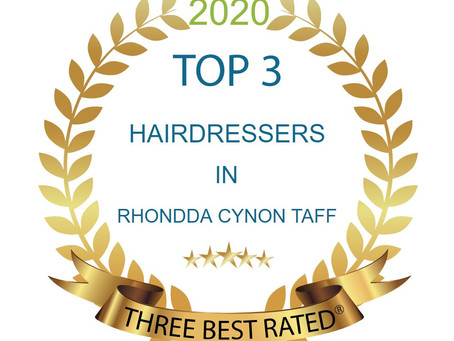 We've Won! Top Hairdressers in RCT