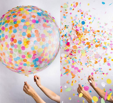 3ft RAINBOW CONFETTI BALLOON