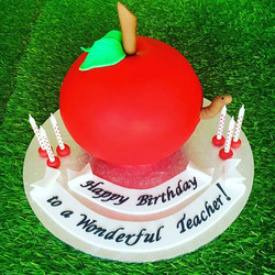 3D Apple cake for my Daughters wonderful