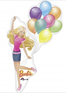 BARBIE w/ BALLOONS SUPER SHAPE