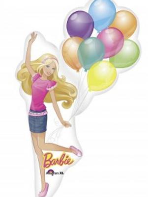 BARBIE w/ BALLOONS SUPER SHAPE