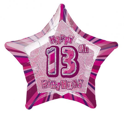 PINK GLITZ STARS 13th-70th