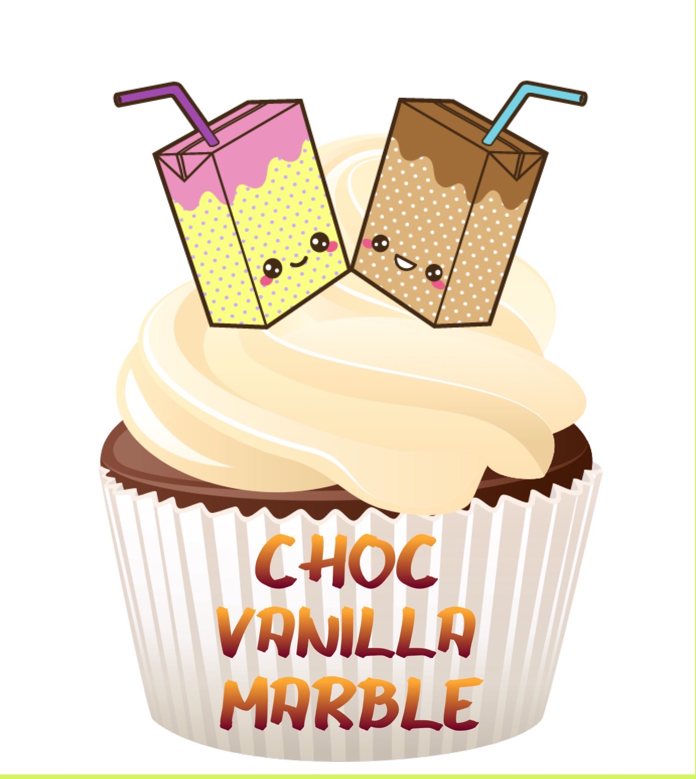 Choc Vanilla Marble