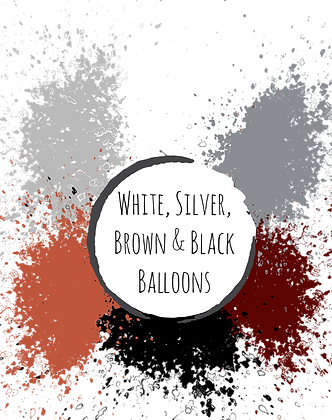 WHITES, SILVER, BROWN & BLACKS