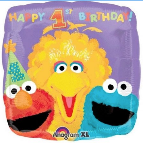 SESAME ST 1st BIRTHDAY