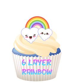6 Layer Rainbow Cake