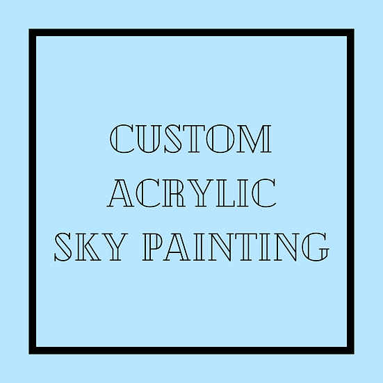 Custom Acrylic Sky Painting