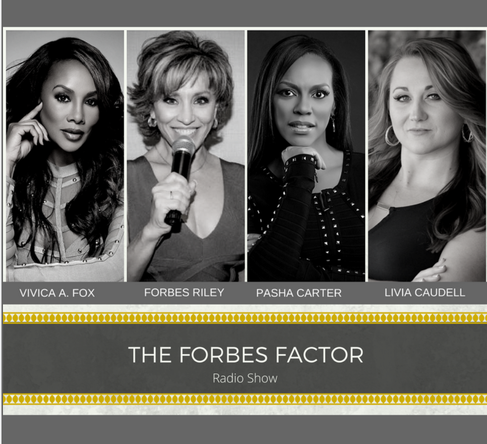 "This week Forbes & her Women dish health, fitness, business and more in the side split tingly funny, informative yet vulnerable in-depth conversation. First we learn how Pasha Carter and her husband Steve, balance a family of four children yet crush it in the world of Direct Sales and Network Marketing. She shares how her organizational mastery and self-determination from a young age, keep her at the top of her game. Next in the house, We love in Independence Day with Will Smith and now EMPIRE - In this unique interview she shares how she and Forbes connect naked in a sauna while SpinGyming. You'll have to hear it to believe it! This show is for any woman looking to take HER game to the next level and live a balanced but glamour life - from 4 women who have ""been there, done that in high heels and are STILL Kickin~!"""